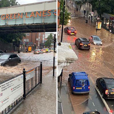 Общество: Мощный ливень подтопил десятки улиц в Лондоне