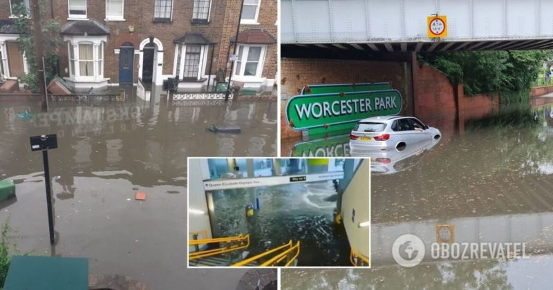 Общество: Потоп в Лондоне: под воду ушли станции метро и множество домов - фото, видео