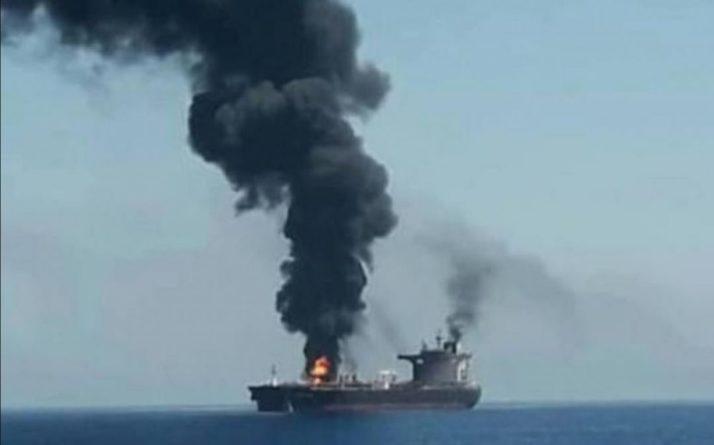 Общество: США и Британия обвинили Иран в атаке на японский танкер Mercer Street дронами-камикадзе