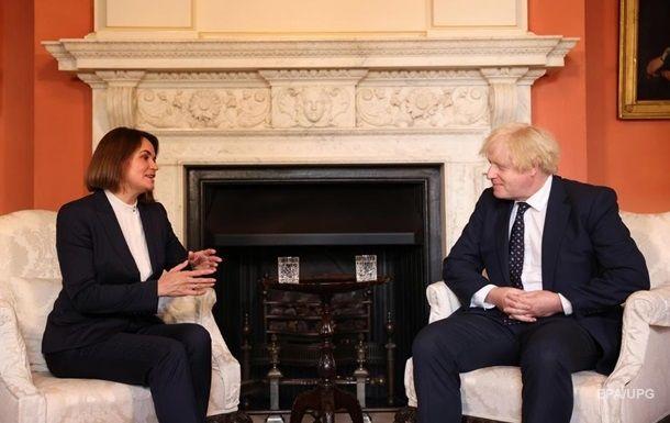 Общество: Джонсон провел переговоры с Тихановской в Лондоне