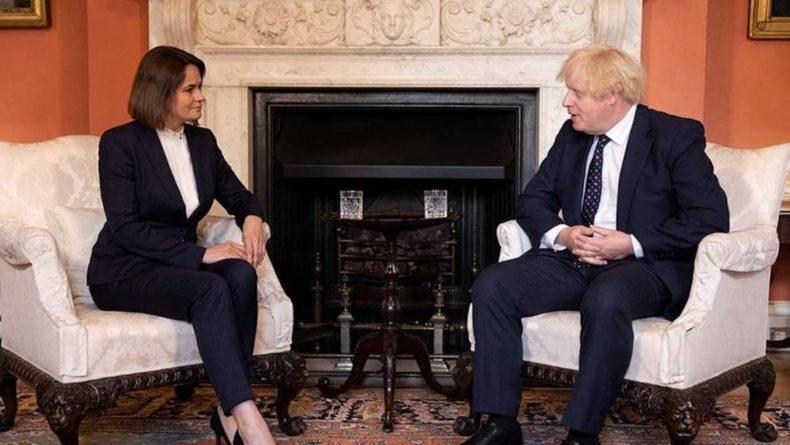Общество: Джонсон провел встречу с Тихановской в Лондоне