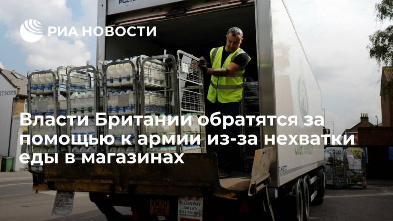 Общество: Daily Mail: власти Британии обратятся за помощью к армии из-за нехватки еды в магазинах