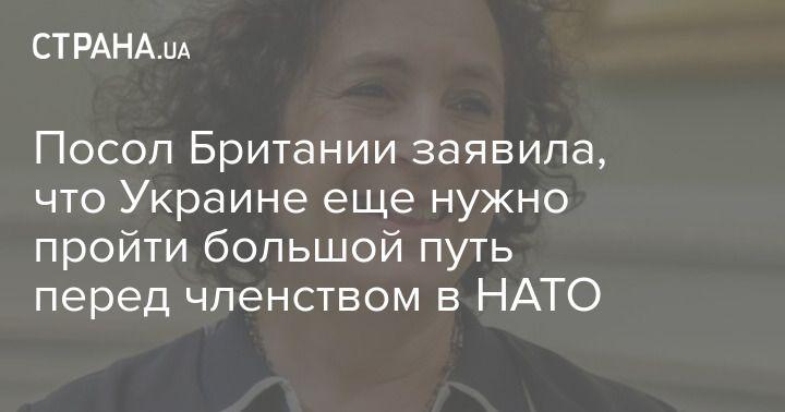 Общество: Посол Британии заявила, что Украине еще нужно пройти большой путь перед членством в НАТО
