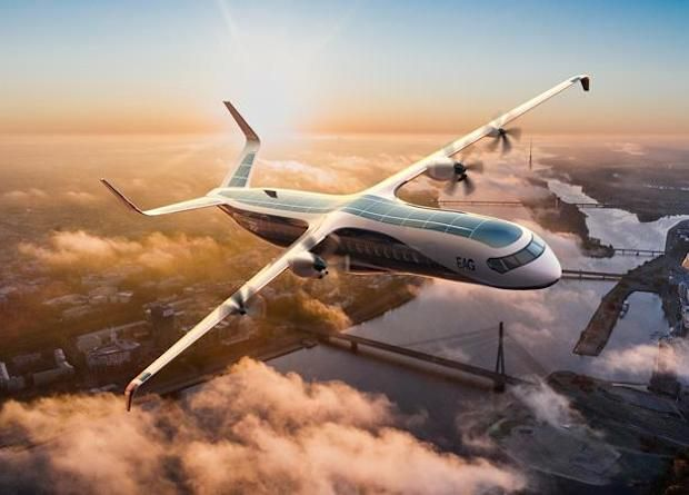 Общество: В Британии строят 90-местный водородный авиалайнер