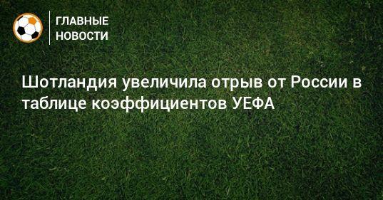Общество: Шотландия увеличила отрыв от России в таблице коэффициентов УЕФА