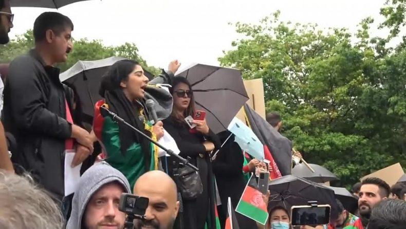 Общество: Солидарность с афганцами: манифестация в Лондоне
