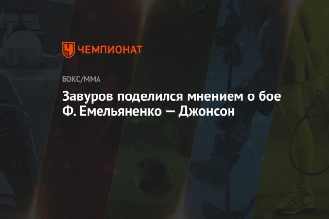 Общество: Завуров поделился мнением о бое Ф. Емельяненко — Джонсон