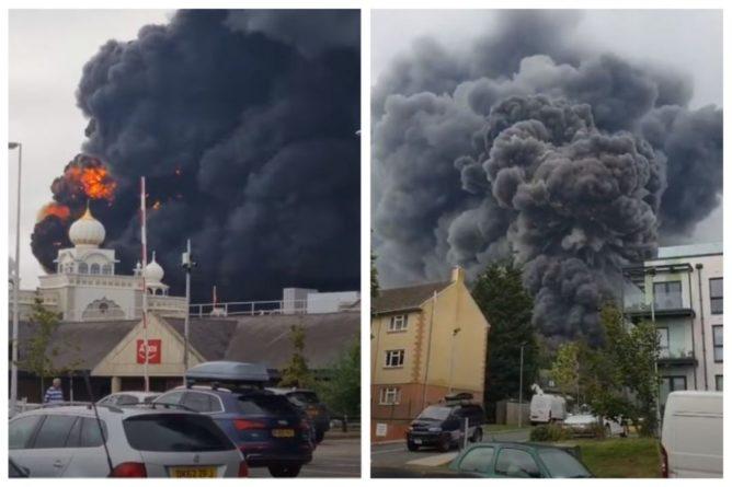 Общество: В курортном городе в Англии прогремел мощный взрыв и начался пожар: видео