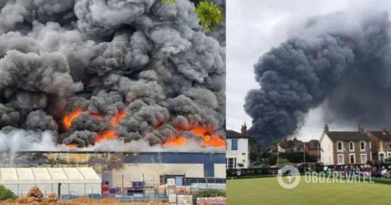 Общество: В Британии прогремел мощный взрыв в промышленной зоне, поднялся столб черного дыма. Фото и видео