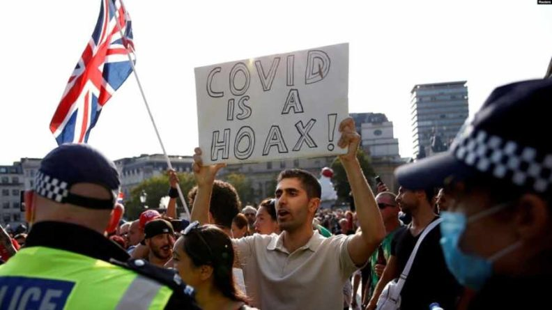 Общество: Противники вакцинации устроили акцию протеста в Лондоне