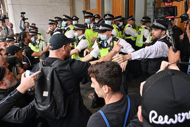 Общество: Полиция Лондона начала задержания на митинге противников вакцинации