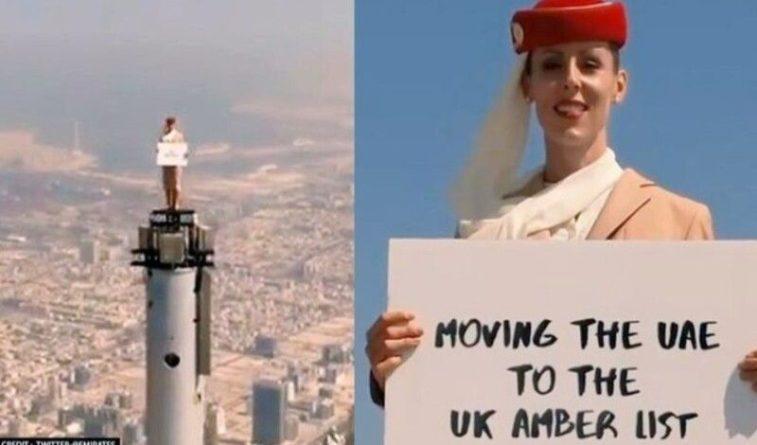 Общество: Британка снялась в авиарекламе на вершине высочайшего в мире небоскреба