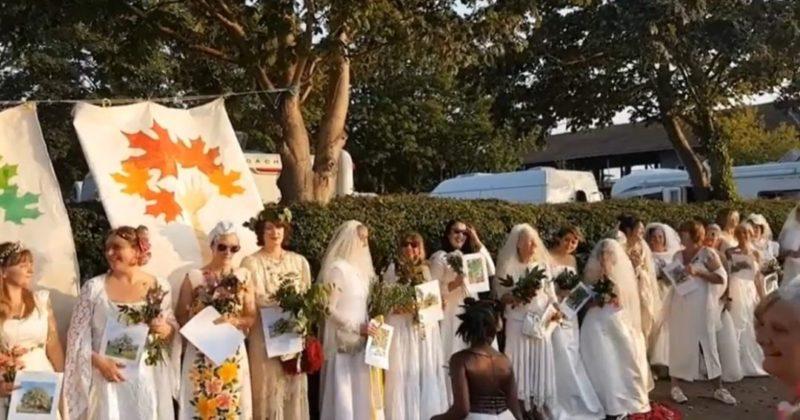 Общество: В Великобритании 70 женщин вышли замуж за деревья: видео необычной церемонии