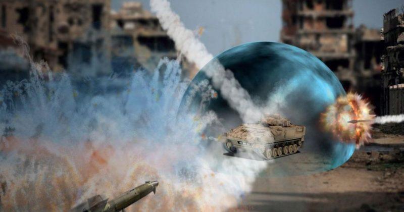 """Общество: В Британии показали """"щит""""для защиты бронетехники от ракет и ПТУРов (фото)"""