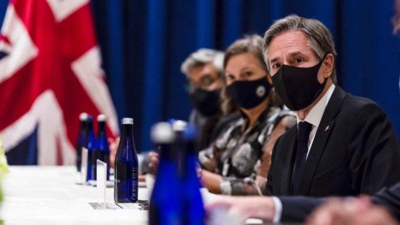 Общество: Блинкен встретился с министром иностранных дел Великобритании