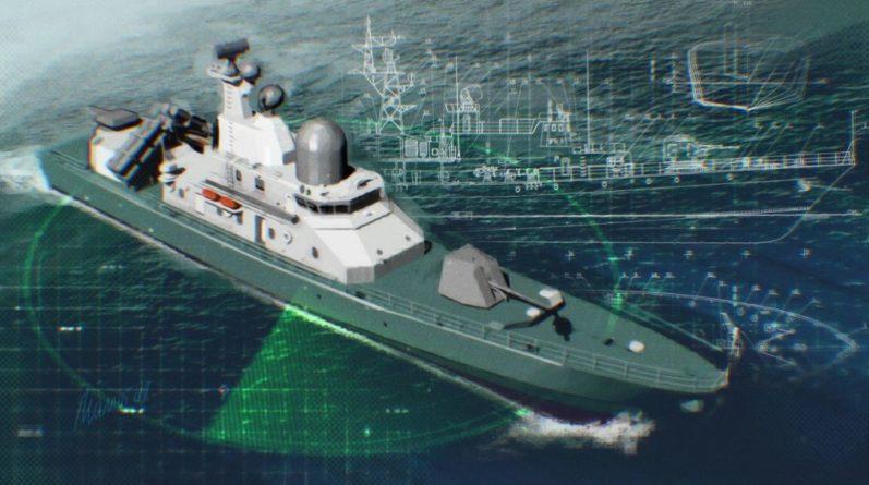 Общество: Макет будущего ракетного корабля ВМС Украины показали на выставке в Лондоне