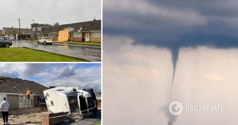 Общество: В Британии пронесся разрушительный торнадо - фото и видео