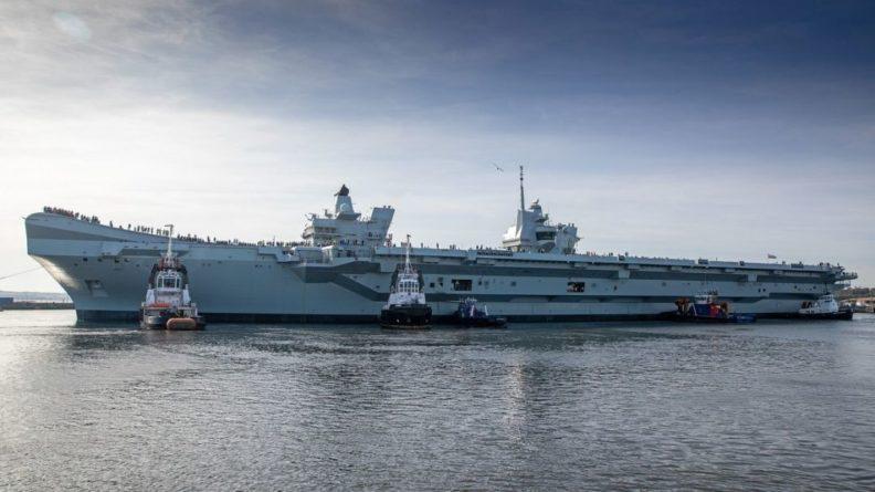 Общество: ВМС Британии отработали запуск реактивных беспилотников с авианосца Prince of Wales