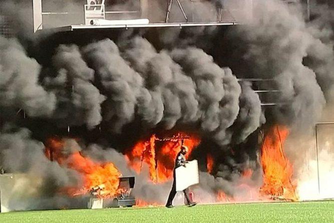 Общество: На стадионе сборной Андорры перед матчем с Англией вспыхнул пожар. ФОТО