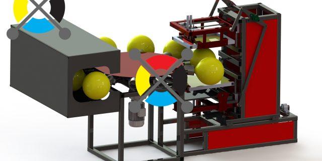 Станок для печати наСтанок для печати на шарах 800 шаров/час.
